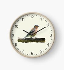 Chaffinch - number dial markings, Cream background Clock