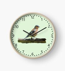 Chaffinch - number dial markings, Green background Clock