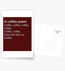 A Coffee Poem  Postcards