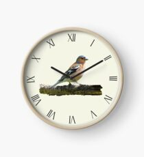 Chaffinch - Roman dial markings, Cream background Clock