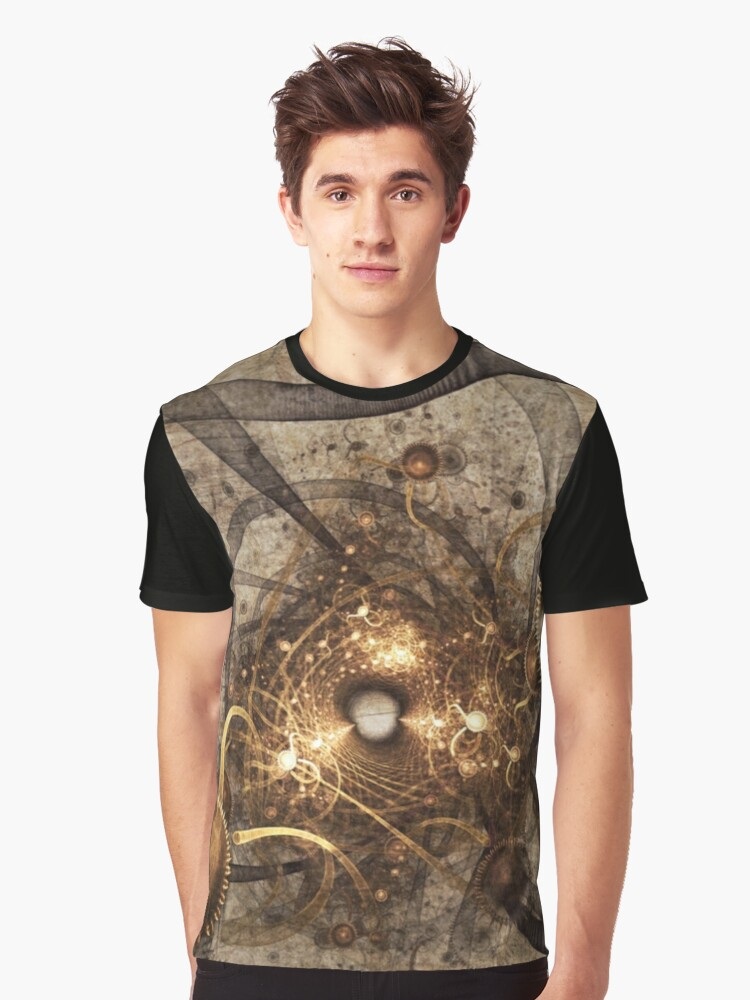 The Human-Time Abstract Graphic T-Shirt Front