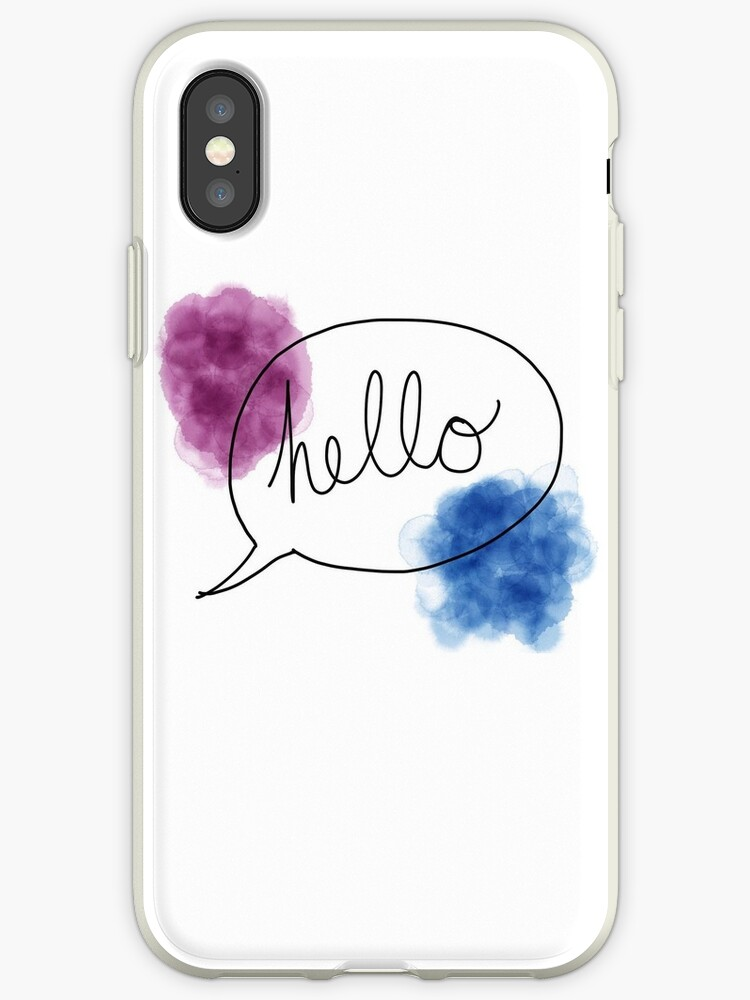 hello case in watercolor  by smunchkin