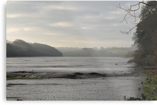 """ Misty Light Over Mud Flats "" by Richard Couchman"