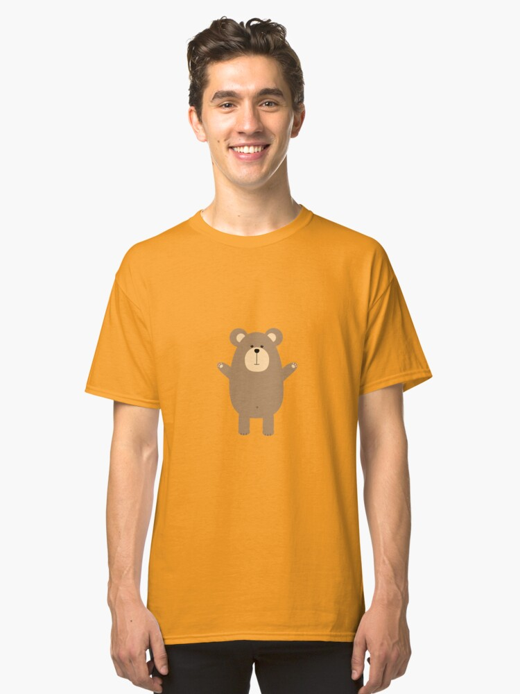 Happy Brown Bear  Classic T-Shirt Front