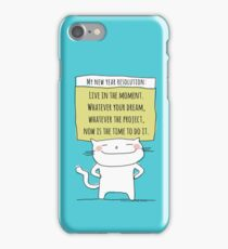 My new year resolution / Cat Doodle iPhone Case/Skin