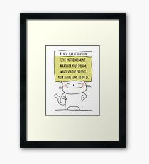 My new year resolution / Cat Doodle Framed Print