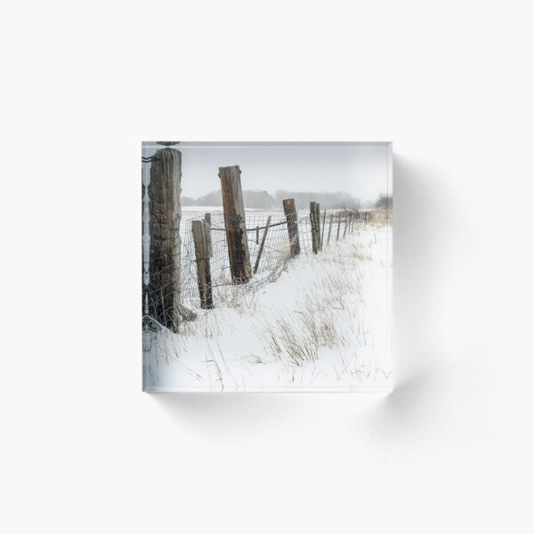 Winter On The Farm Acrylic Block