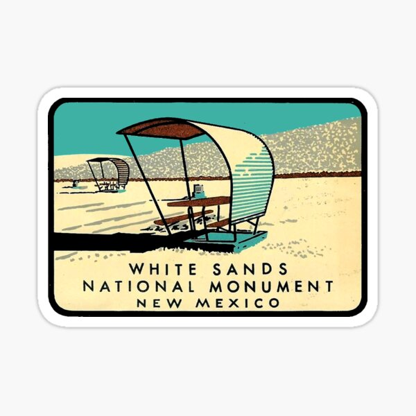 White Sands National Monument New Mexico Vintage Travel Decal Sticker