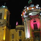 Dominican church at night by Elena Skvortsova