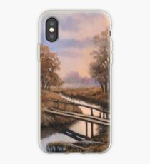 Landscape with bridge iPhone Case