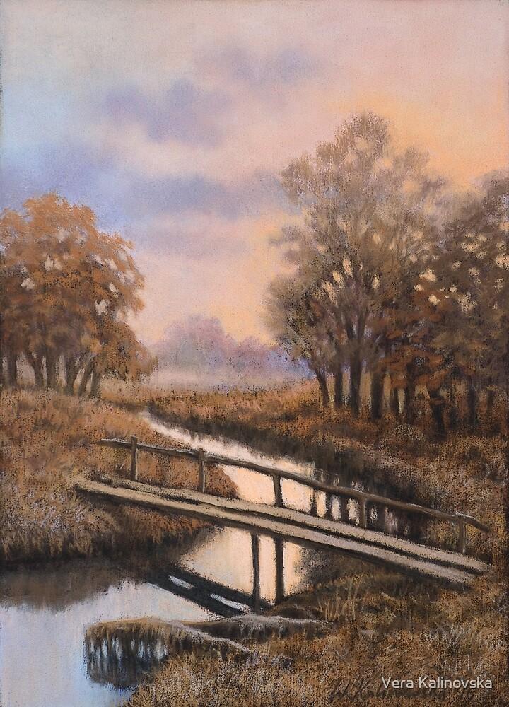Landscape with bridge by Vira Kalinovska