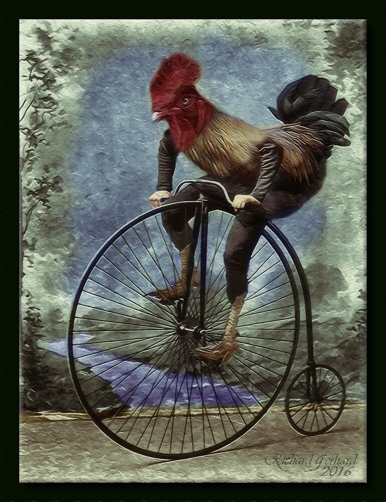 Red Rooster Bicycles Too by Richard  Gerhard