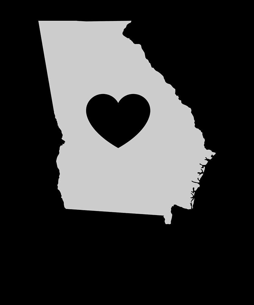 Georgia Love Heart by helloshirts