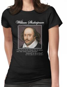 william Shakespeare - The fool Womens Fitted T-Shirt