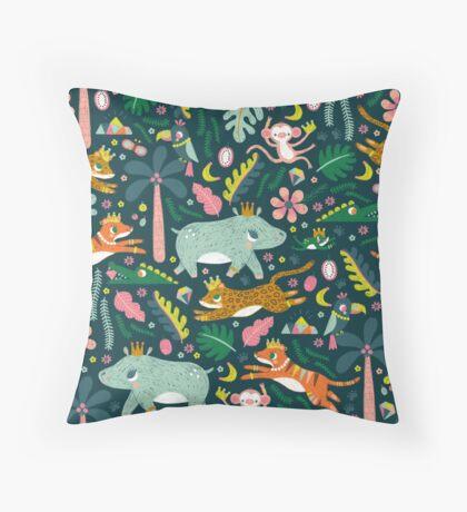 Jungle Buddies Cute Pattern Throw Pillow