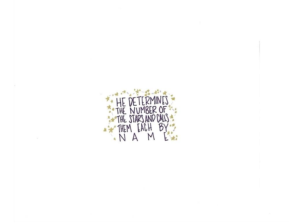 Psalm 147:4 by kxtiegrxce