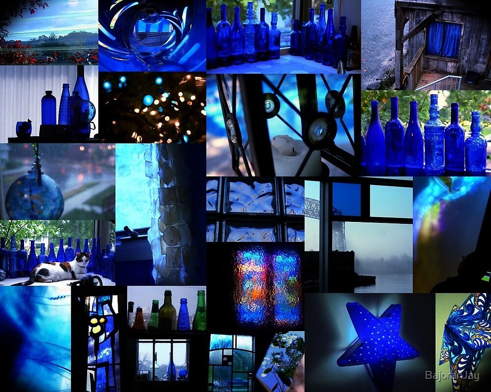 Bright blue collage by BajoranJay