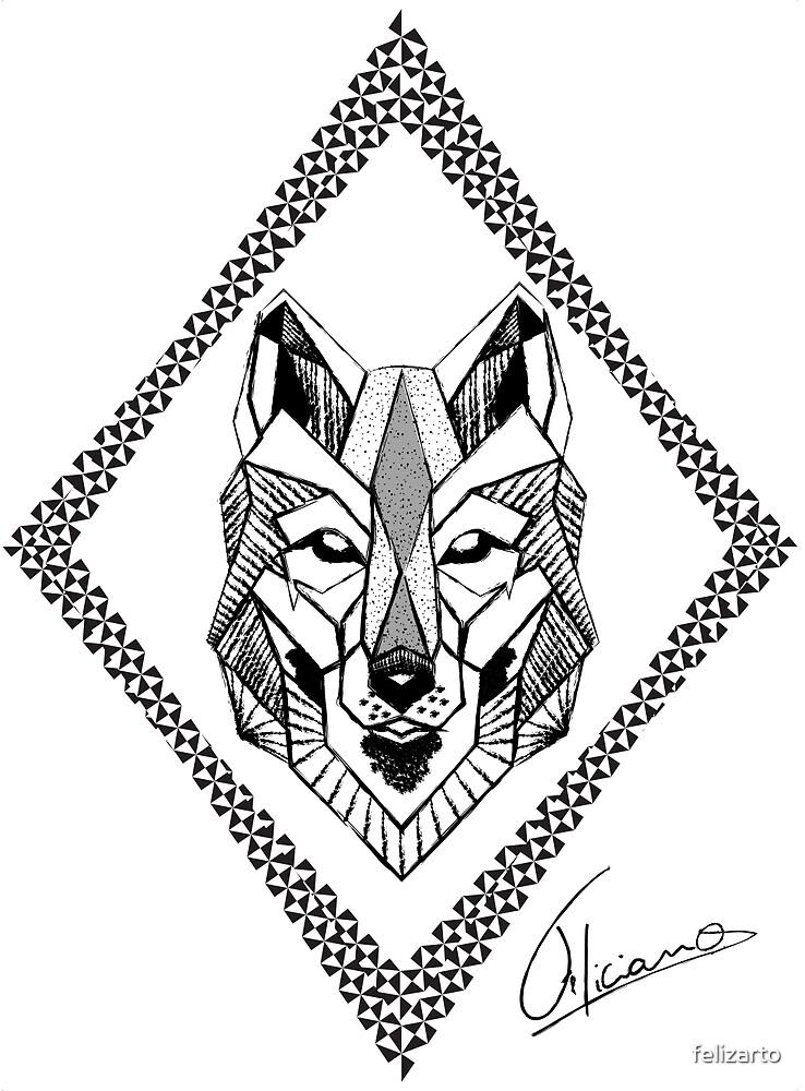Geometric Wolf by felizart