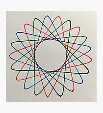 Red, Green, Blue Spiral Photographic Print