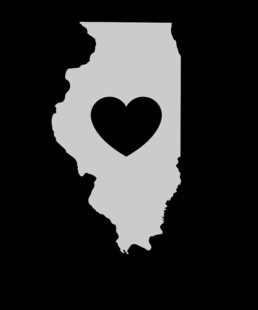 Illinois Love Heart by helloshirts