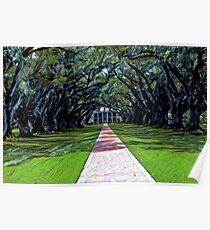 Oak Alley Plantation Louisiana Poster