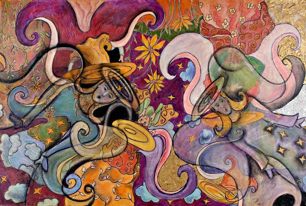 Spiritual Guardian Angel Gift Art by JourneyOnCanvas