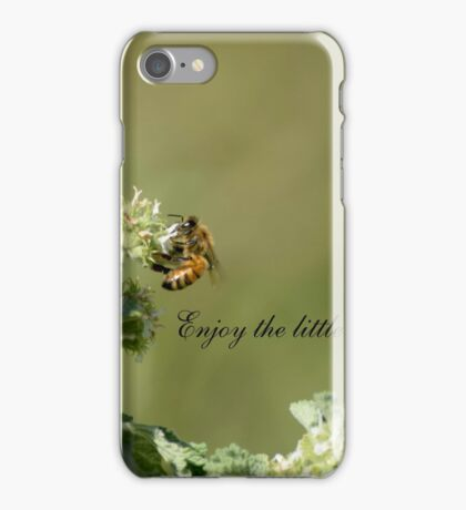 Bee-Enjoy the little things in life iPhone Case/Skin