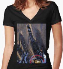 rise raven Women's Fitted V-Neck T-Shirt