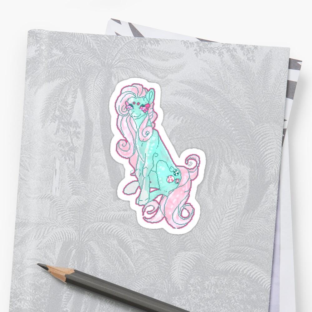 Minty pixel sticker by Weebkinz