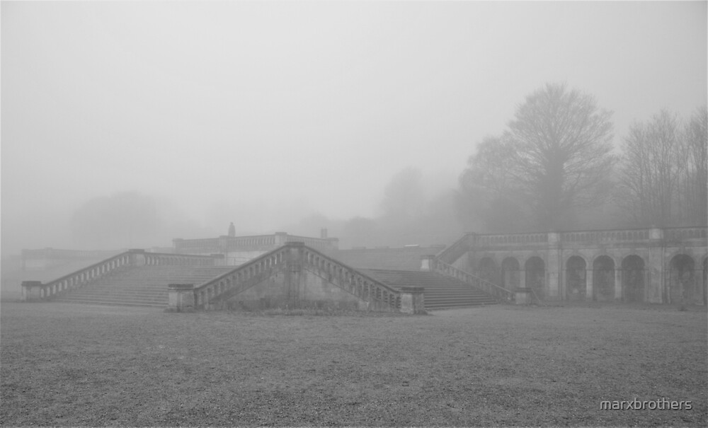the crystal  palace  in the fog  by marxbrothers