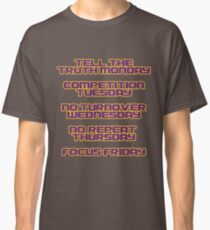 Coach Orgeron LSU Tigers Days of the Week Classic T-Shirt