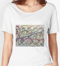Colorful Oil Pastel Scribbles Women's Relaxed Fit T-Shirt