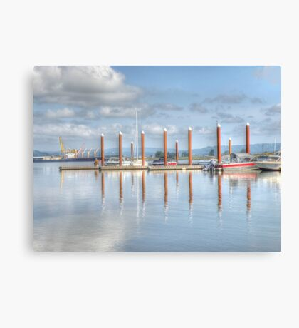 Sitting on the dock Canvas Print