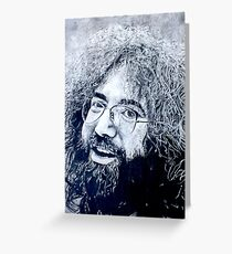 Jerry Garcia Portrait Greeting Card