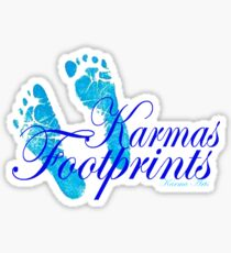 KARMAS FOOTPRINTS (BLUE) Sticker