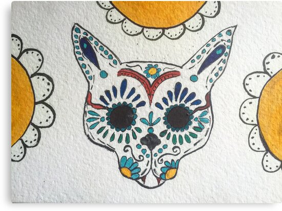 Cat sugar skull by Thecathartist