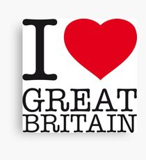 I ♥ GREAT BRITAIN Canvas Print