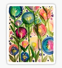 Whimsy bubble garden Sticker