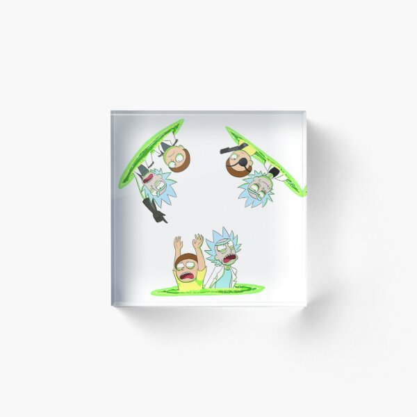 Rick and Morty vs Rick and Morty Acrylic Block