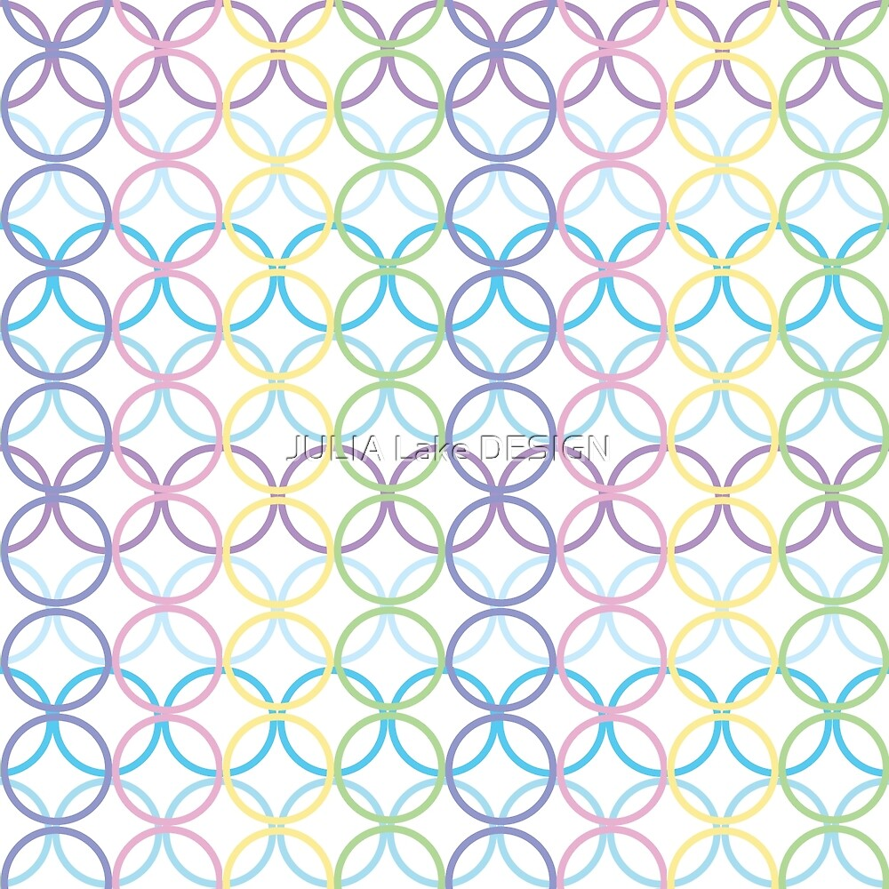 Colorful Repeating Circle Pattern by JULIA Lake DESIGN