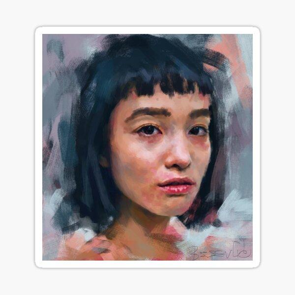 Portrait study Sticker
