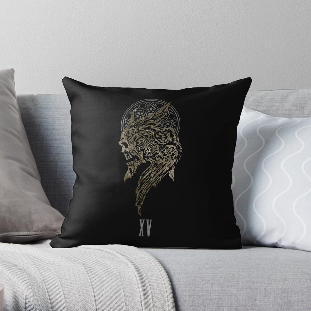 The Lucian Crest  Throw Pillow