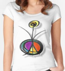 reach out for peace Women's Fitted Scoop T-Shirt