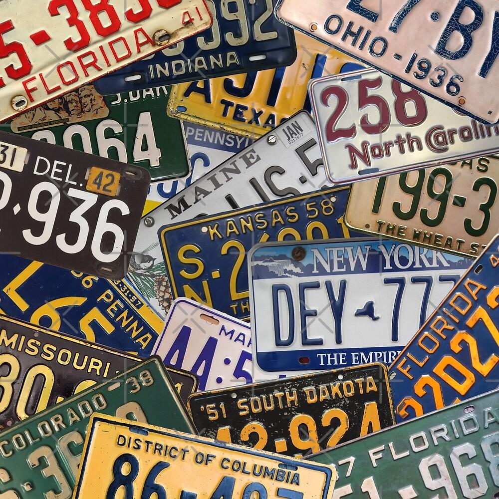 USA License Plates (America)  by MandalaPics