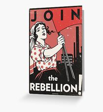 Join the Rebellion! (Vector Recreation) Greeting Card