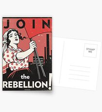 Join the Rebellion! (Vector Recreation) Postcards