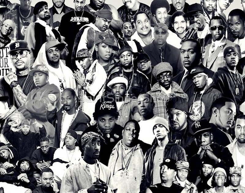 Quot Hip Hop Legends Collage Quot Posters By Saintsinnershop