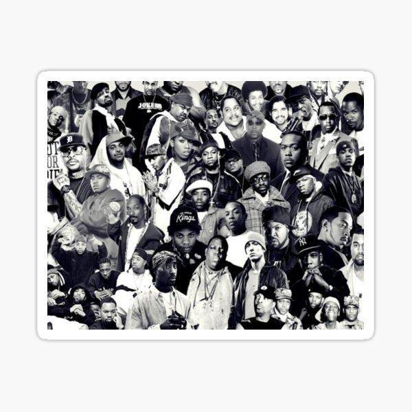 Collage de Hip Hop Legends Pegatina