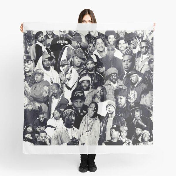 Collage Hip Hop Legends Foulard