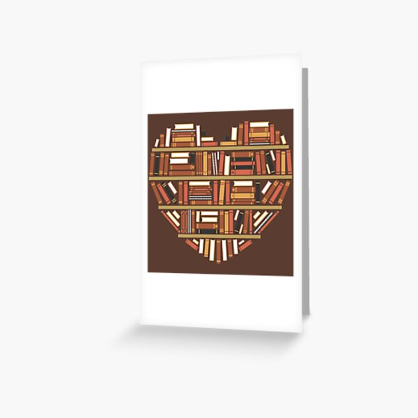 I Heart Books Greeting Card